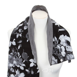 DRAPÉ® Flowers Black, White + Silver - Bild 2