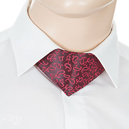No-Tie® Red Paisley 1